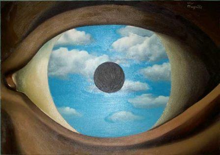 "Rene Magritte's ""The False Mirror"" (1928)"