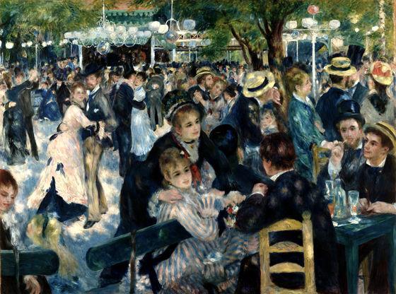 Pierre-Auguste Renoir's Dance at Le Moulin de la Galette (1876)