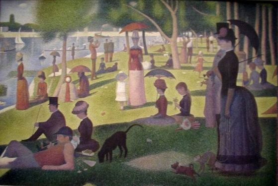 Georges Seurat's A Sunday Afternoon on the Island of La Grande Jatte (1886)