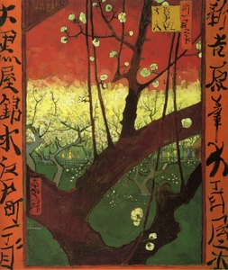 Vincent 봉고차, 반 Gogh's Japonaiserie After Hiroshige (1887)