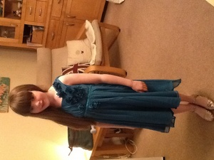 My turquoise dress for my school disco