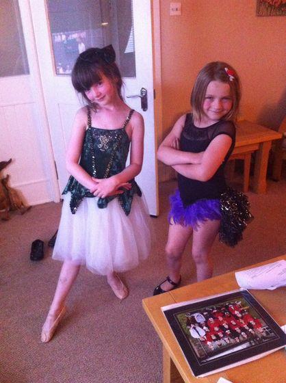 Us in our fancy dress!
