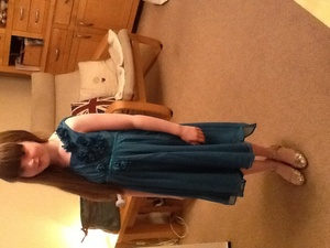 Me (Rosie )in my nice dress I pag-ibig moshi!