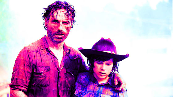 Andrew lincoln & Chandler Riggs as Rick & Carl, Too Far Gone, 4x08