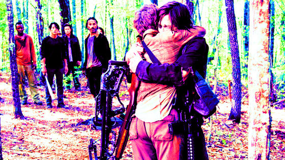 Norman Reedus & Melissa McBride as Daryl & Carol, No Sanctuary, 5x01