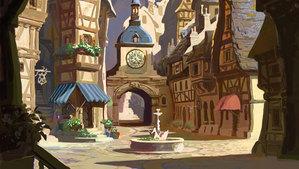 concept art for Corona's town