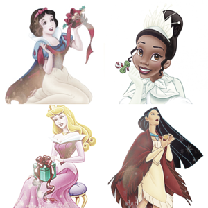 A collage made par me with some of the Disney Princesses