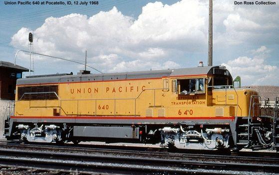 A U25B diesel locomotive