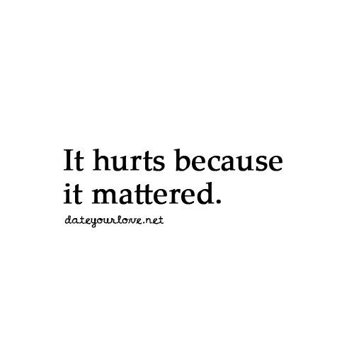 Even if it was unintentional, it still hurt.