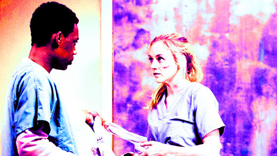 Tyler James Williams & Emily Kinney as Noah & Beth, Slabtown, 5x04
