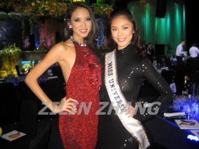 Zillin and Riyo (Miss World and Miss Universe 2007 from China and Japan)