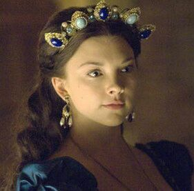 Natalie Dormer as Anne Boleyn in TV series The Tudors.