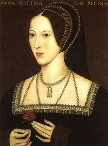 Portrait of Anne Boleyn.