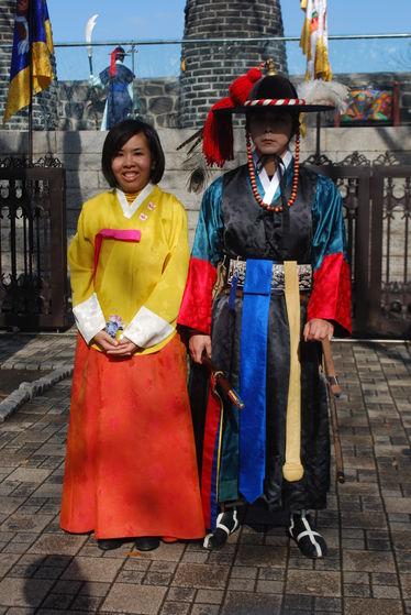 A Korean princess and prince.