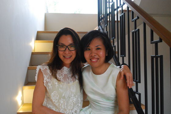 Michelle Yeoh and me during CNY last year.