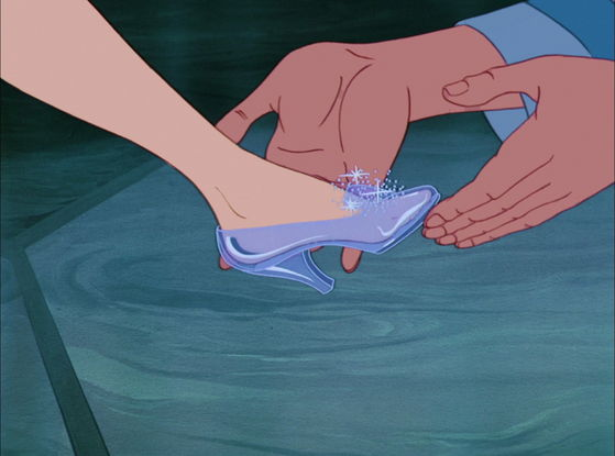 And a glass slipper...