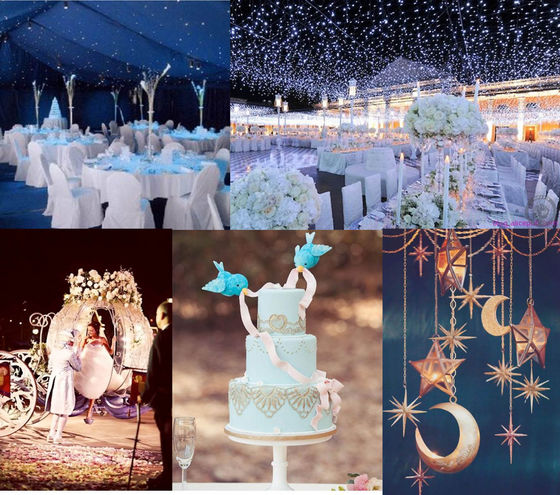 A starry night theme for Cinderella's midnight dream