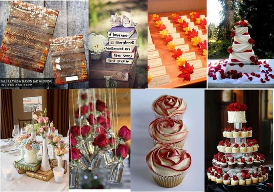 rose and fall themed decor