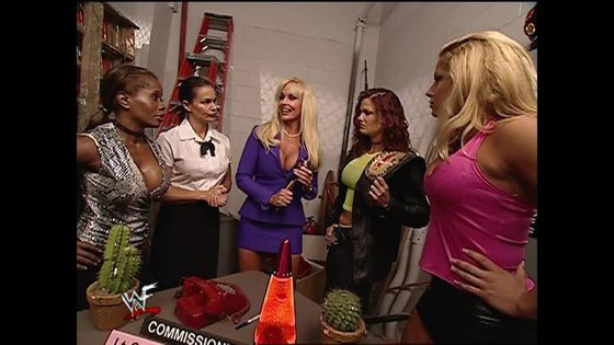 Booking a match for the WWF Women's title!