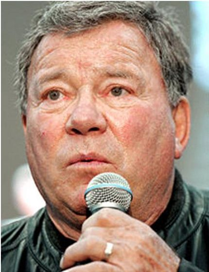 6. William Shatner. Nothing but an ugly fat pig.