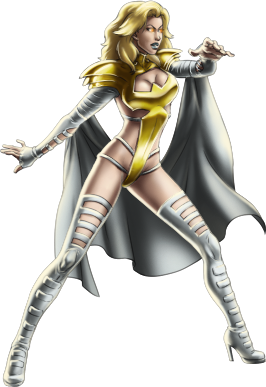 Emma Frost as one of the Phoenix Five