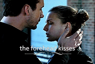 5. The forehead kisses.