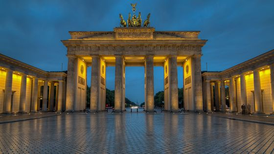 The Brandenburg Gate, a symbol of hope and reunification.