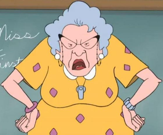 "5. Miss Finster from ""Recess""."