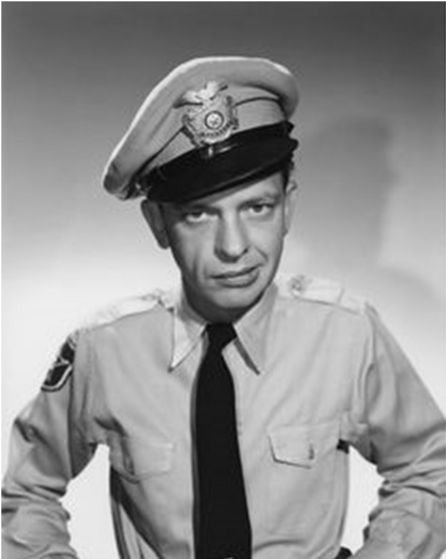 "3. Barney Fife from ""The Andy Griffith Show""."