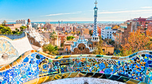 Colourful Barcelona.