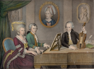 Mozart and his family.