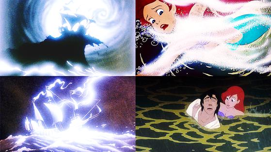 ★ Storm at Sea/Eric Saves Max/Ariel Saves Eric ★