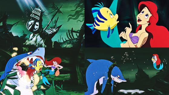 ★ Ariel and linguado, solha in The Shipwreck/Shark Chase ★