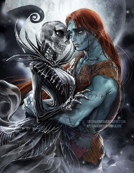 Jack and Sally - 'The Nightmare Before Christmas'