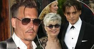 Johnny Depp with his Mother