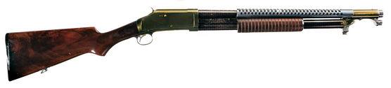 12 Gauge Buckshot, 6 rounds, attachable bajonett