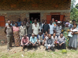 Vanilla farm training participants in Uganda