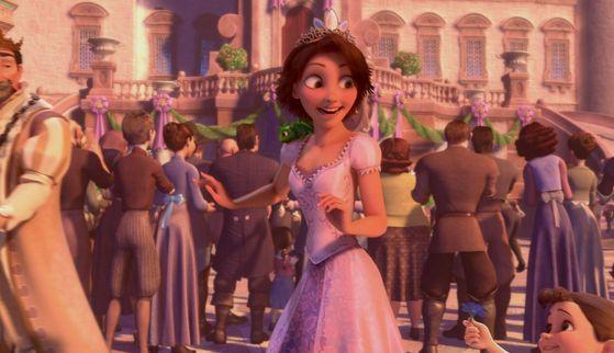 1. Rapunzel pink dress