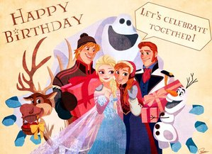 I know Elsa isn't real - but I still want to wish her a Happy Birthday.