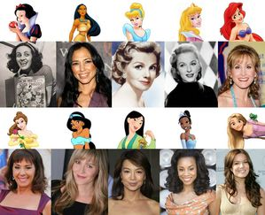 Princesses with their voice actress!