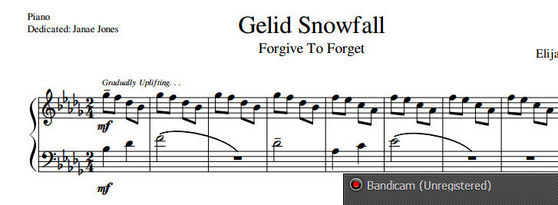 Forgive To Forget Album Sheet Music, Gelid Snowfall