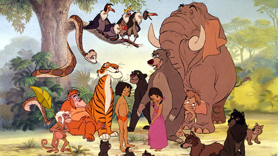 The cast of the Jungle Book.