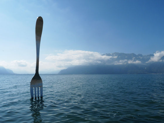 The suspended giant fork.