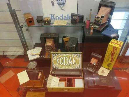 Kodak exhibit in the Swiss Camera Museum.