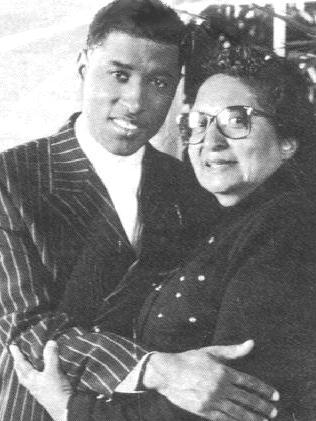 With His Mother, Barbara Edmonds