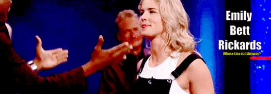 Whose Line Is It Anyway? - Emily Bett Rickards Banner