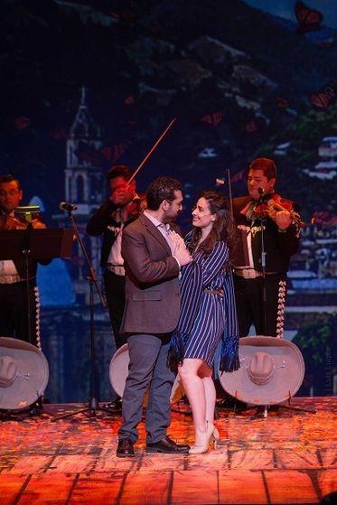 (L-R) Jonathan Arana and Natalia Ferreiro / Photo: Luis Luque