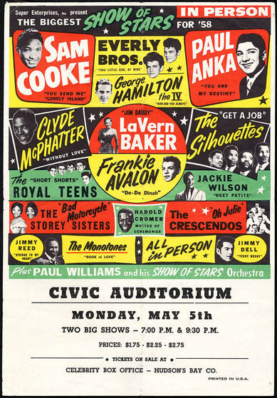 Biggest Show Of Stars 1958 Tour Poster