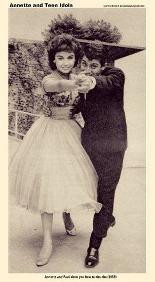 Paul Anka And Annette Funnicello In 1959