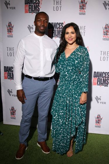 Jamie Hector and Isabella Sanchez at premiere of 'Doubting Thomas' (photographer: Ry Hidden)